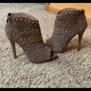 Brand New Bebe Peep Toe Heel Booties